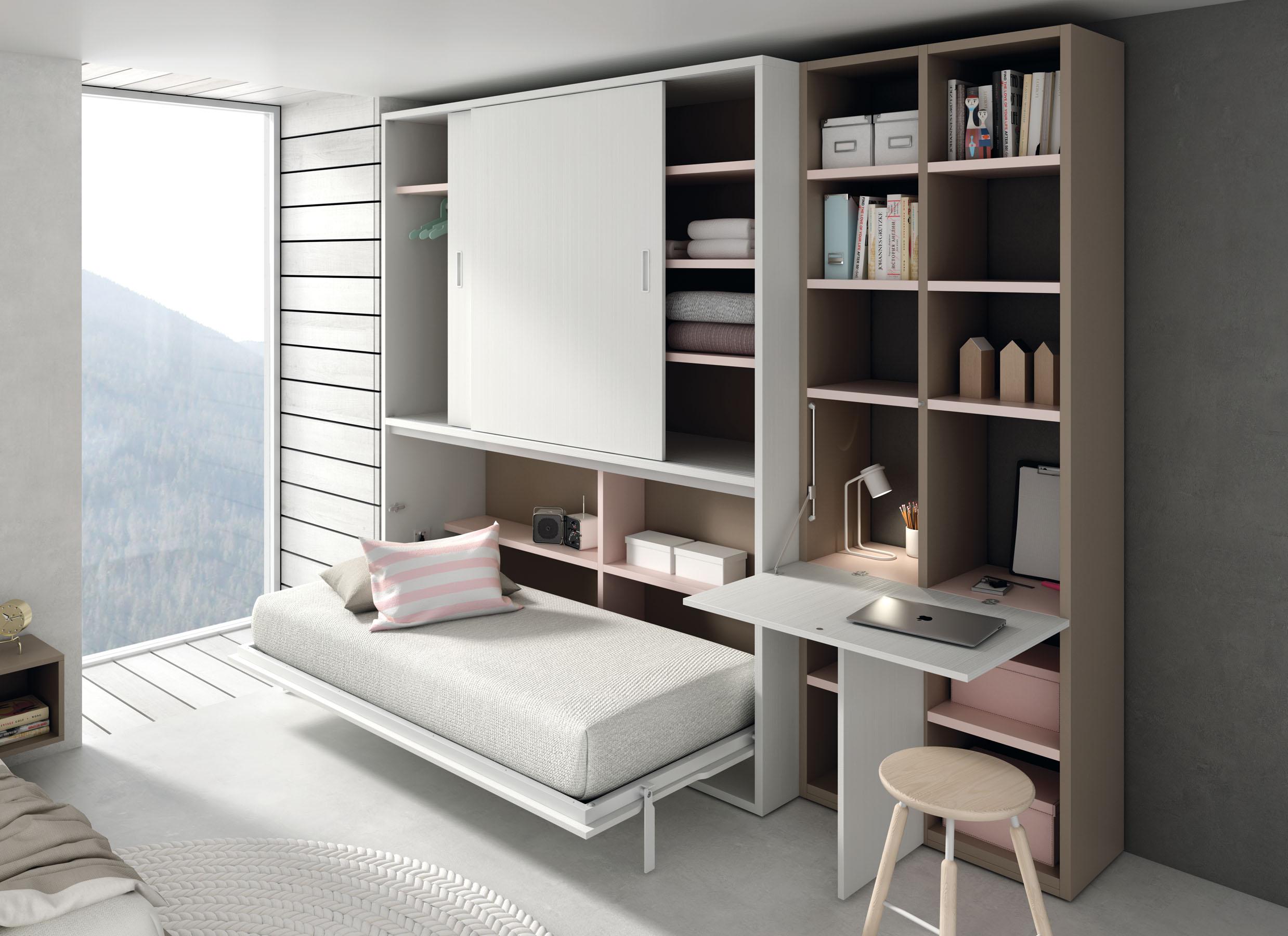 Sistemas abatibles qb tegar for Despacho con sofa cama