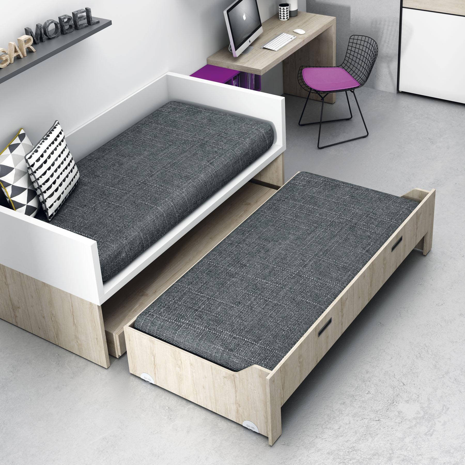Compactos camas nido qb tegar for Cama con cama debajo