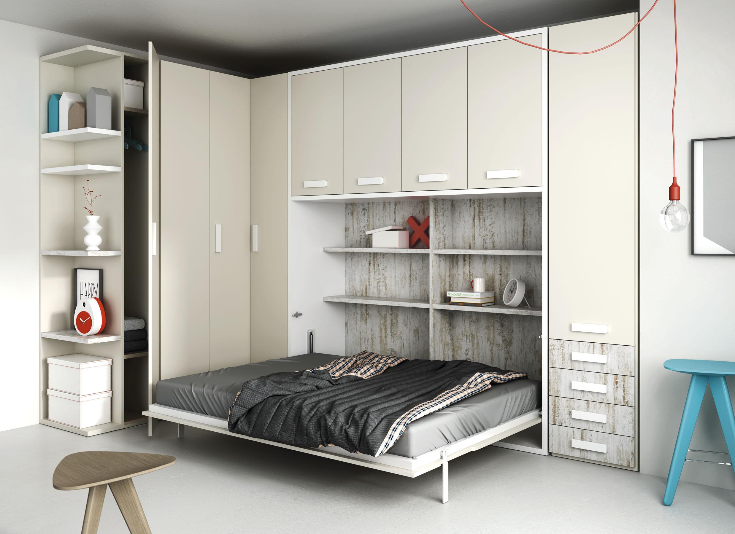 Sistemas abatibles qb tegar for Muebles cama plegables para salon