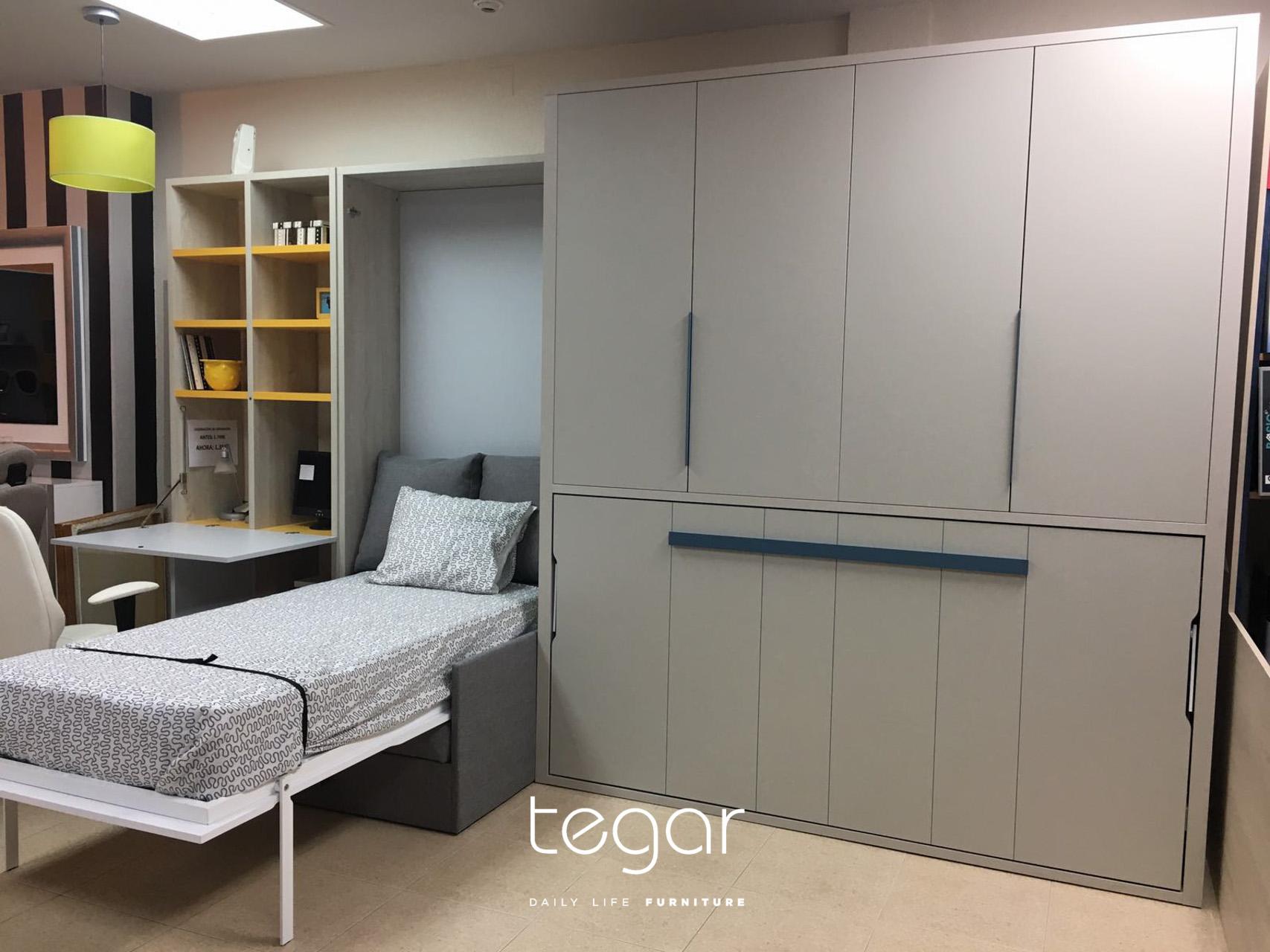 Nuestro modelo estrella la cama abatible con sof tegar - Construir cama abatible ...